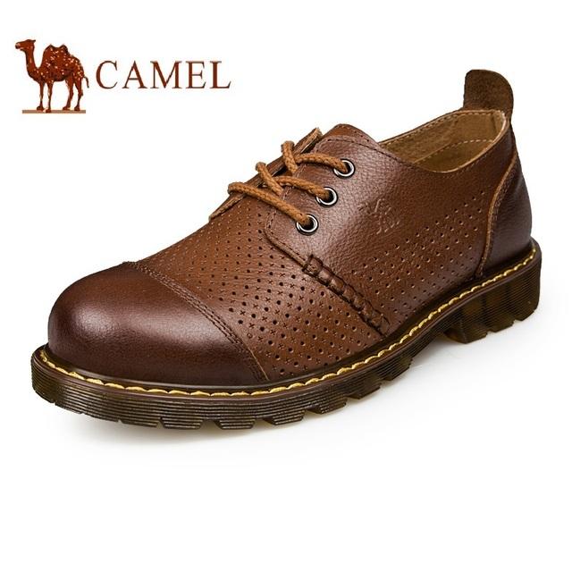 Чисто ручной швейные классический мужской открытый коричневые ботинки кружева up ...