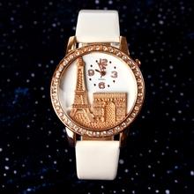 Caliente venta 2015 geneva watch women watch vestido relojes de cuarzo maneras ocasionales mujeres del reloj de cuero hora analógica reloj del relogio feminino