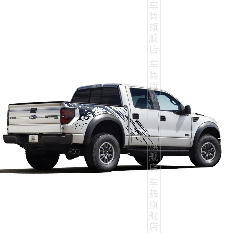 Car styling Pickup truck whole body sticker personalized modification decorative reflective car Ford F150