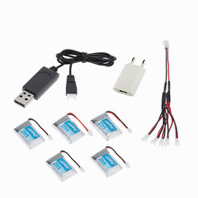 Lipo Battery 3.7V 150mAh 30C USB Charger For JJRC H20 mini RC Hexacopter Drone Rechargeable Lithium Batery 5pcs