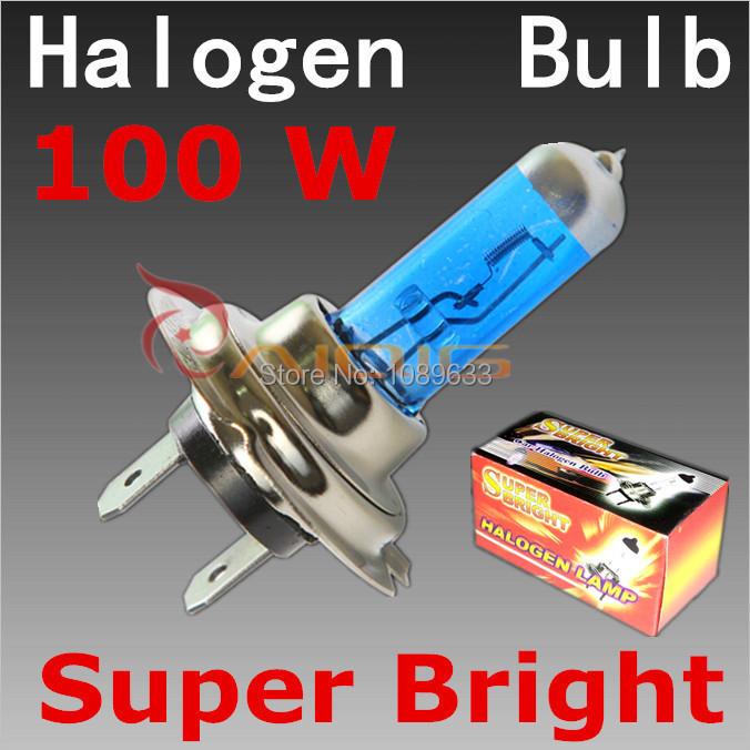 H7 100W 12V Super Bright White Fog Lights Halogen Bulb High Power Car Headlights Lamp Car Light Source parking 6000K(China (Mainland))
