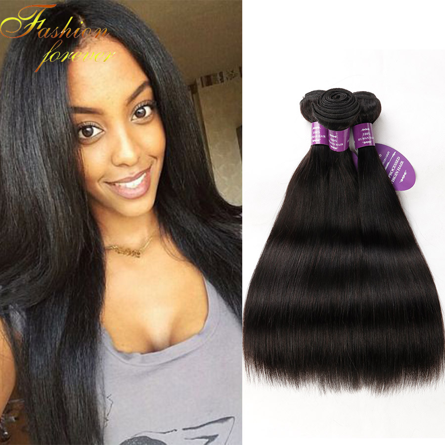 7A Brazilian Virgin Hair Straight 4 Bundles  Queen Hair Products Brazilian Hair Hundred Percent Human hair<br><br>Aliexpress