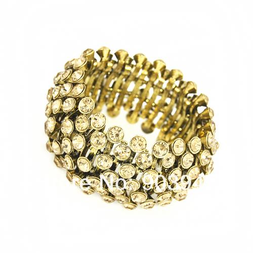18 K Gold plated Luxury crystal rhinestones charm Bracelets &amp; Bangles silver -plated bijoux items fashion bracelet women brt-f76<br><br>Aliexpress