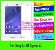 Buy original Clear Glossy mobile protective film phone screen protector de pantalla projector LCD film case Sony L35H Xperia ZL for $1.48 in AliExpress store