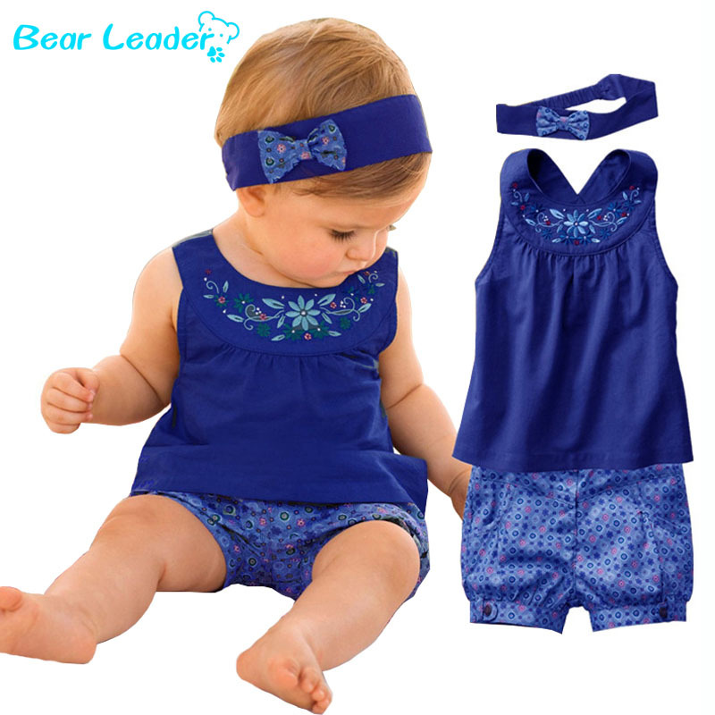 Гаджет  2014 new Blue baby suits/Baby kerchief+ sleeveless dress+ gingham plaid pant/ New arrived None Детские товары