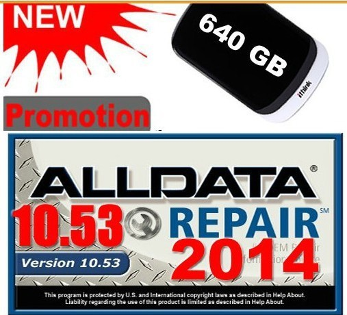 ALLDATA 10.53+125gb Mitchell 2015 +med& heavy truck Full set Repair software with 1TB HDD 3.0USB