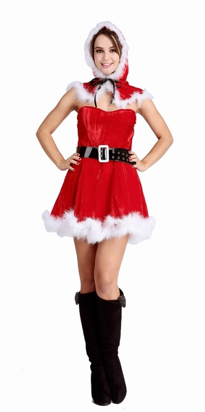 ML8024 Cheap Wholesale Sexy Santa Claus Womens Fancy Dress Party 2015 New Arrival Red And White Adult Christmas Cosplay Costume(China (Mainland))