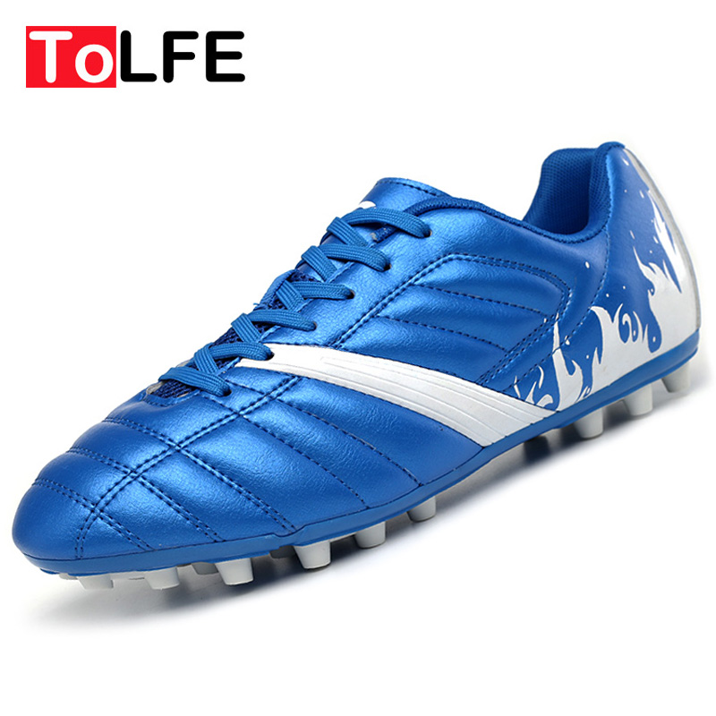 Plus Size 33-45 Men Football Shoes Outdoor Grass Lawn Soccer Shoes Football Boots Cleat Adults Boy Kid Sports Sneakers Shoes(China (Mainland))