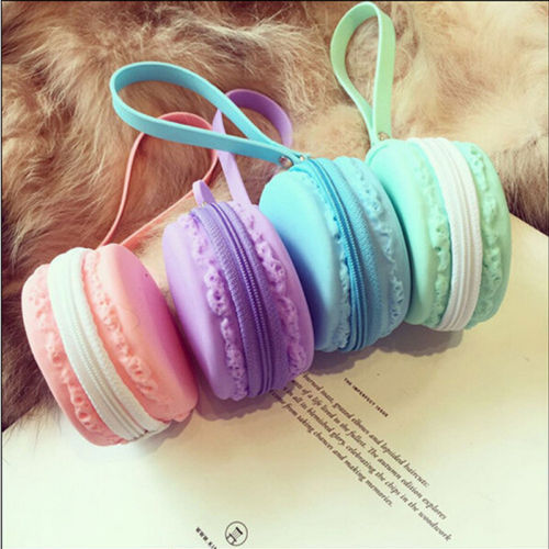 1 PCS Cute Fashion Women Cute Macaron Silicone Waterproof Coin Bag Pouch Purse Wallet(China (Mainland))