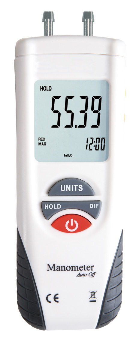 Free Shipping HT-1890 High Performance Manometer gauge/Digital Manometer Air Pressure Meter Gauge Kit + Case+Retail Box(China (Mainland))