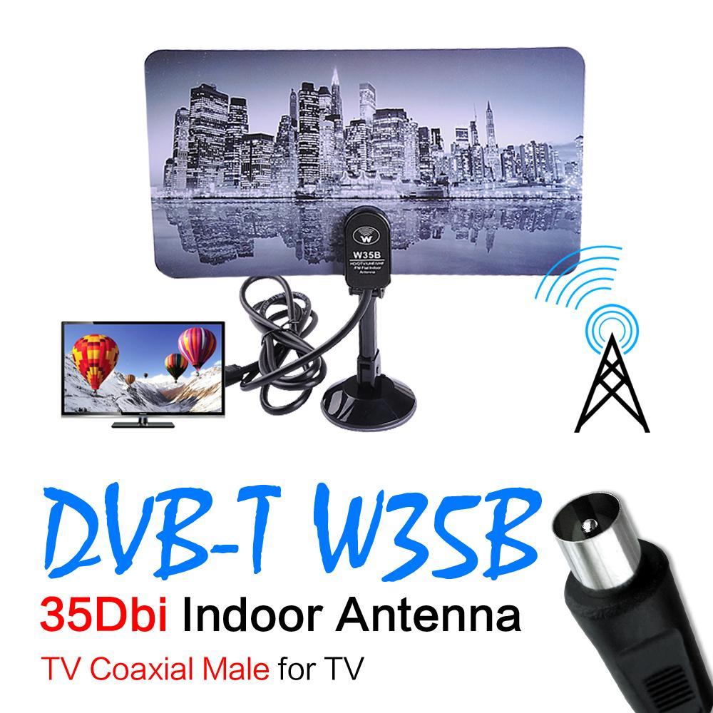 Digital Indoor VHF UHF Ultra Thin Flat TV Antenna for HDTV 1080p DTV HD Ready(China (Mainland))