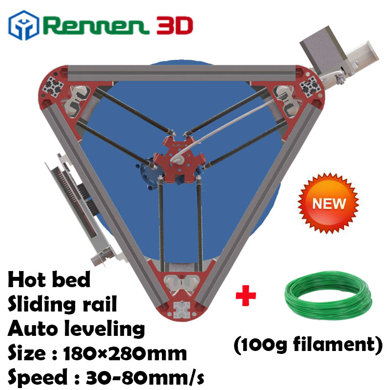 3 D Cheap Delta 3D Printer V Auto Level Kossel mini Reprap Prusa Rostock 3D-Printer Machine Kit With Hot Bed Injection(China (Mainland))