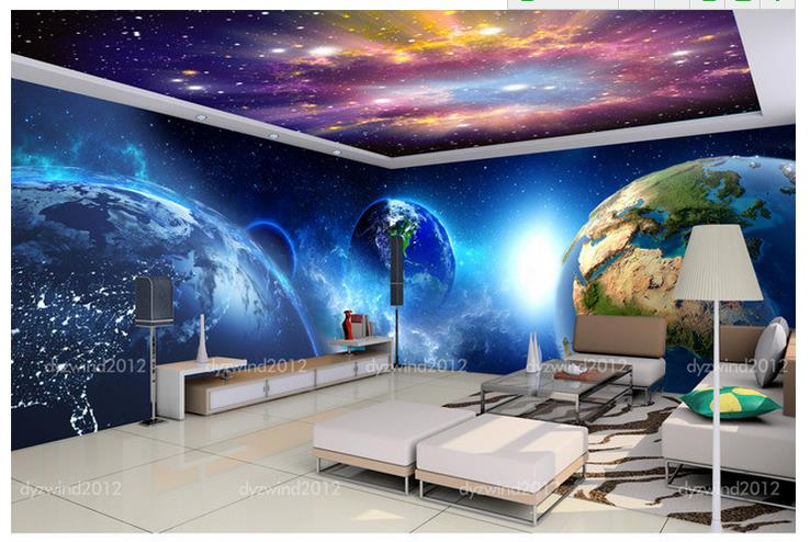 wallpaper the living room sofa backdrop mural cool star theme space