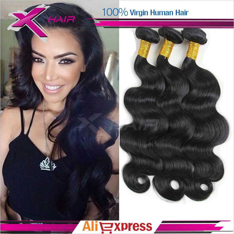 Brazilian Virgin Hair Body Wave Grade 6A Wavy Virgin Brazilian Hair Weave 3Pcs Cheap Unprocessed Virgin Human Hair Extension(China (Mainland))