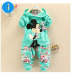 Spring Autumn baby girls christmas outfits children hoodies+pants clothes sets kids minnie mouse 2 pcs Sport suit clothing set(China (Mainland))