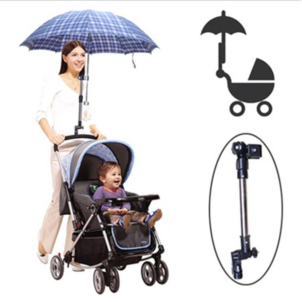 Горячая нержавеющей стали зонтик держатель кресло велосипедов коляски поворотный зонт разъем коляска держатель под любым углом новый