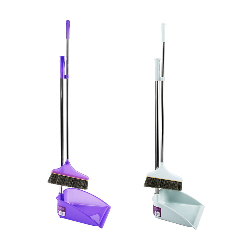 Besmirchers Set Dustpan And Broom Suit Of Stainless Steel Bristles Retractable Besmirchers Cleaning Tools(China (Mainland))