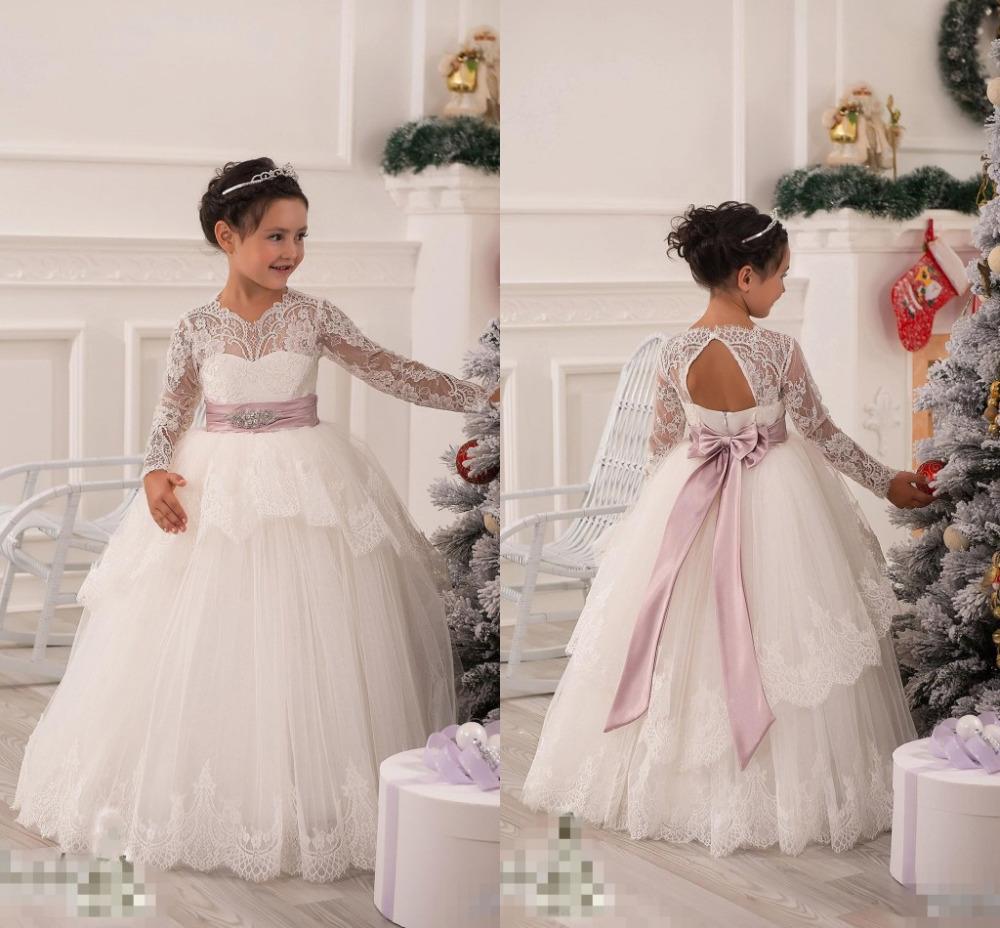 Baby girl birthday party christmas princess dress children girl party