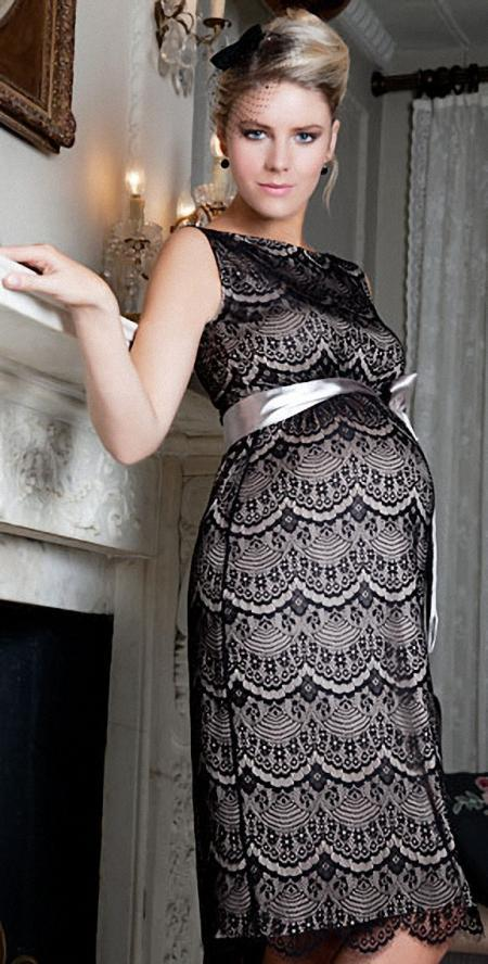 Size L-XXL Women party evening Lace Tassel dresses for pregnant maternity formal plus size dress for parties dress free shipping<br><br>Aliexpress