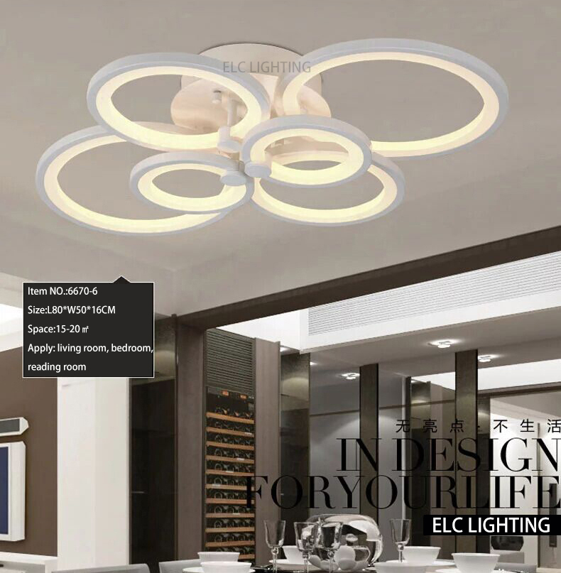 Modern ceiling design smart lighting dimmable ceiling for Modern living room ceiling lights
