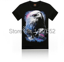 5 size 2015 summer new fashion men's 3D creative personality stereo Eagles T-shirt 3d print cotton short sleeve t-shirt
