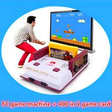 Enfance réminiscence classique Subor FC TV joueur de jeu D99 famille Interaction Consoles de jeu contre + 400 en 1 carte de jeu(China (Mainland))