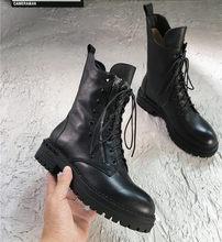 Prova Perfetto Neue Hohe Qualität Frauen Stiefeletten Hand-made Echtes Leder Frau Stiefel Runde Toe lace up Schuhe weibliche Schuhe(China)