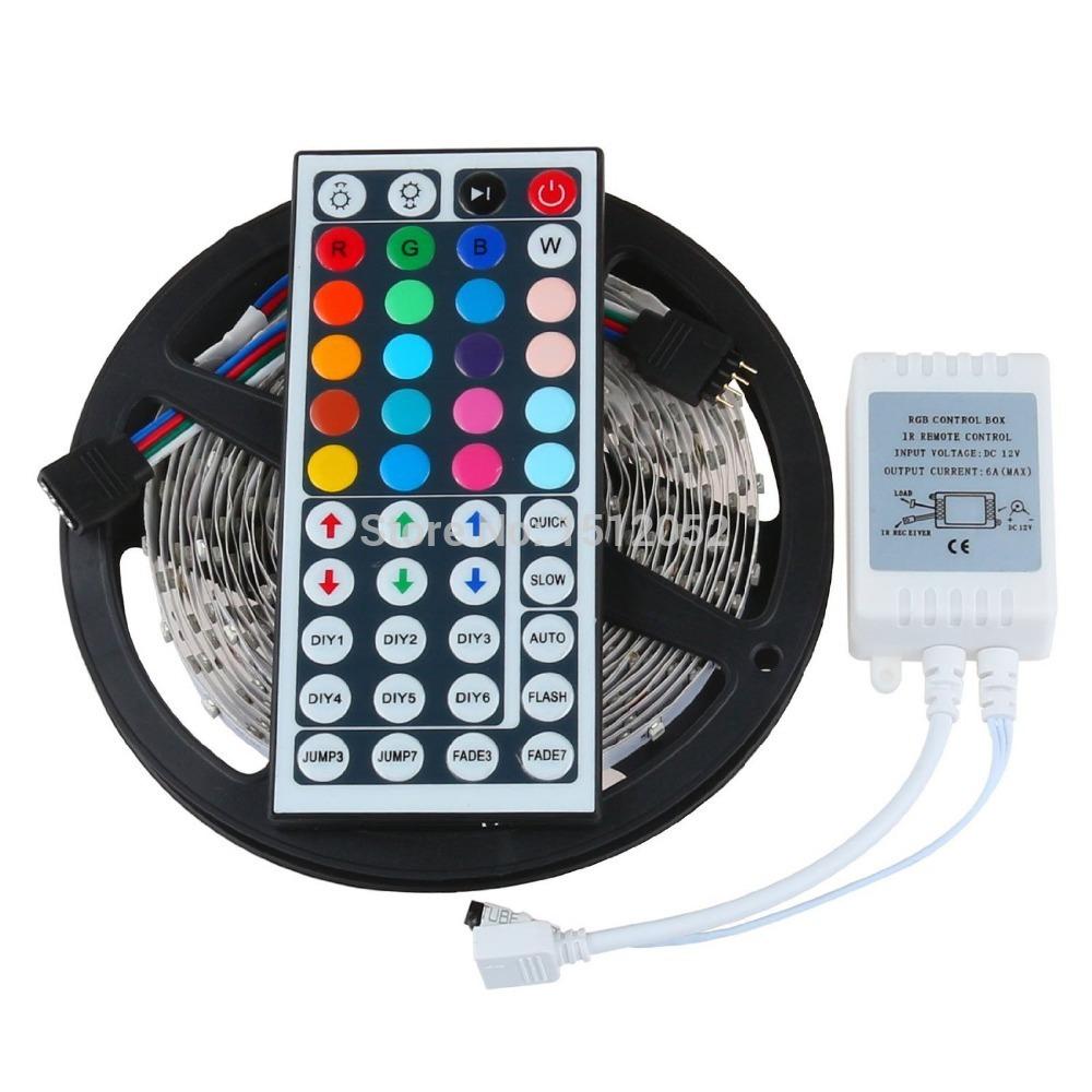 Flexible Led Light Strip 3528 Smd 12 Volt Quality Lighting: Free Shipping 5M/Roll SMD 3528 RGB 300 Leds Flexible LED