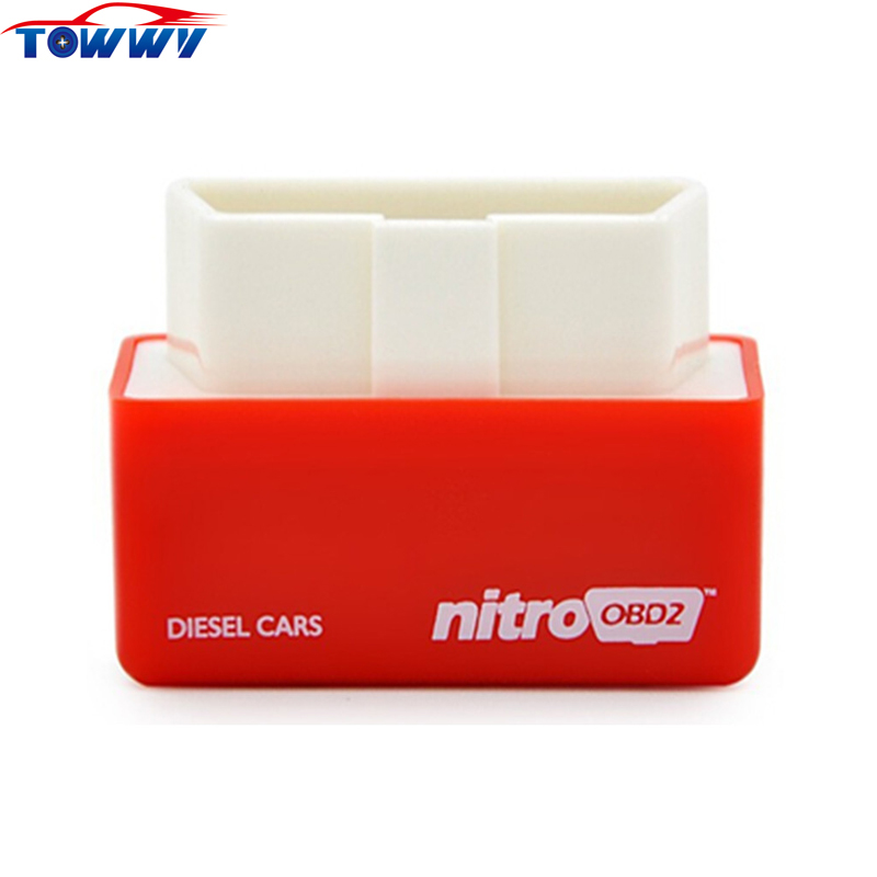 New arrival NitroOBD2 Red For Diesel Cars Your Own Drive! Plug&Drive OBD2 Performance Chip Tuning Box More Power More Torque(China (Mainland))