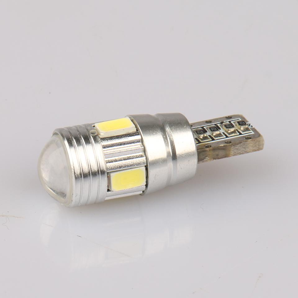 10pcs T10 5630 6 SMD Super Bright Car LED Light Lamp Bulbs With Lens Polarity Aluminum Shell DC 12V(China (Mainland))