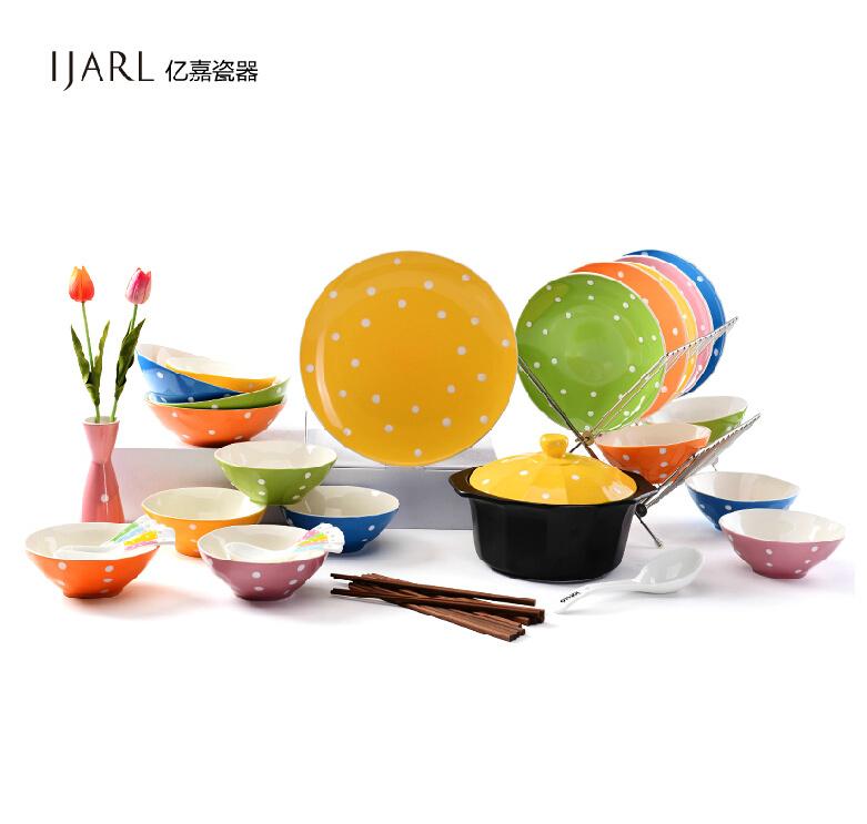 Yijia Tourism Satellite TV dishes bowl dish dishes European lovely ceramic tableware sets Bohemia(China (Mainland))