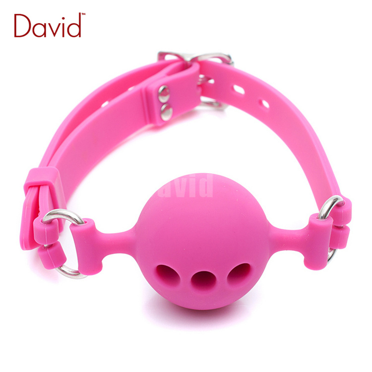 David Three Size Breathable Black Silicone Mouth Gag Lockable Adjustable Belt Slave Training BDSM Bondage Gear Sex Product<br><br>Aliexpress