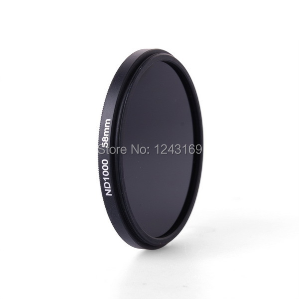 DSLR Camera Density Filter 58mm Ultra Silm Neutral Density ND1000 Grey Filter 58mm + Pouch LF506<br><br>Aliexpress