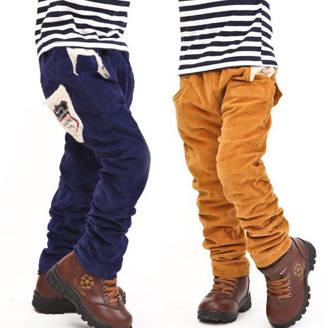 New children boys pants winter baby boy casual pants kids jeans ...