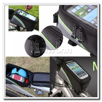 High quality NEW 4.8inch mobile Cycling Bike Bicycle Frame Front Tube Bag For Cell Phone Dropshipping