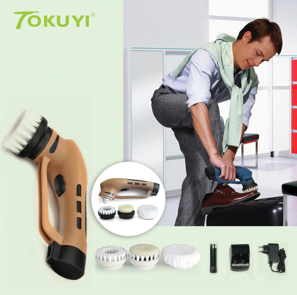 Portable Electric Automatic Shoe Brush Kit for Leather Care US Plug(China (Mainland))