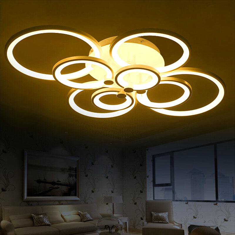 Remote control living room bedroom modern led ceiling lights luminarias para sala dimming led for Ceiling lights for living room philippines