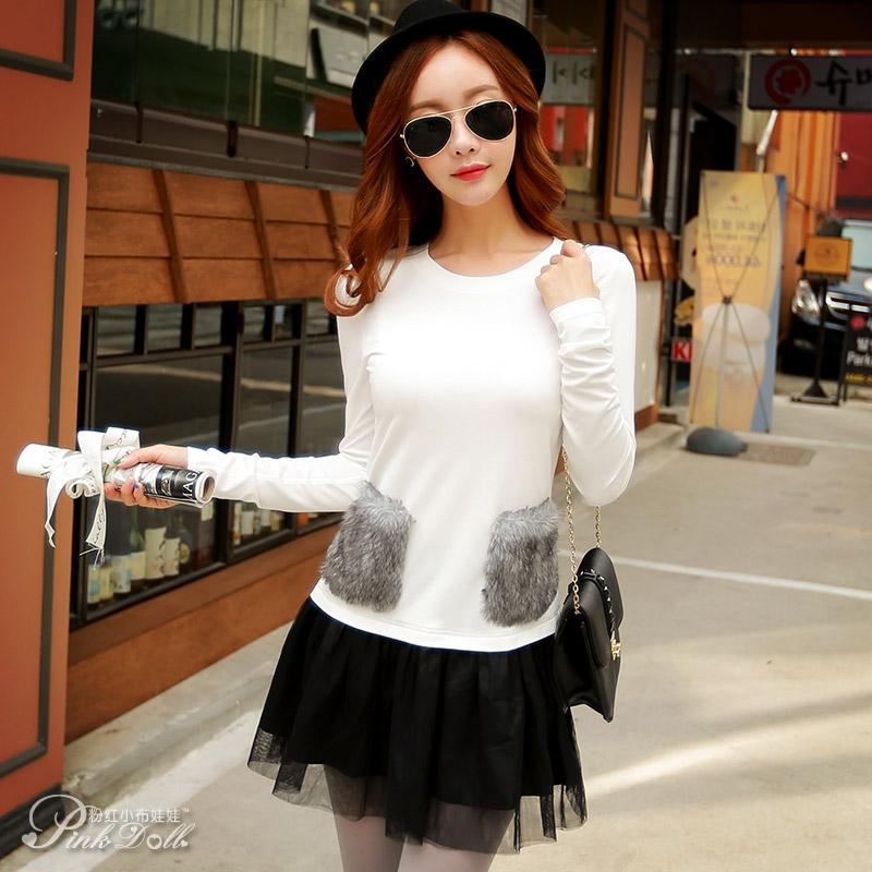 Spring girl pink doll long sleeve shirt 2016 new women's short pure sweet shirt jacket