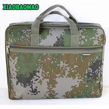 Very cool army green Business A4 document file bag waterproof casual work magazine laptop book bag case for Teacher Dad Husband(China (Mainland))
