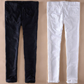 Plus Size Ultra Thin Summer Beige White Black Flax Beach Trousers Linen Pants Men Drawstring Slim