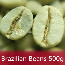 500g Brazil Green Coffee Beans 100% Original High Quality Green Slimming Coffee the tea green coffee slimming bean Free Shipping