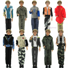 Random Pick 3 Set Original Clothes Male Doll Casual Outfits Uniform  For Ken  Doll xMas Gift best Gift Girl Partner Baby Toy(China (Mainland))