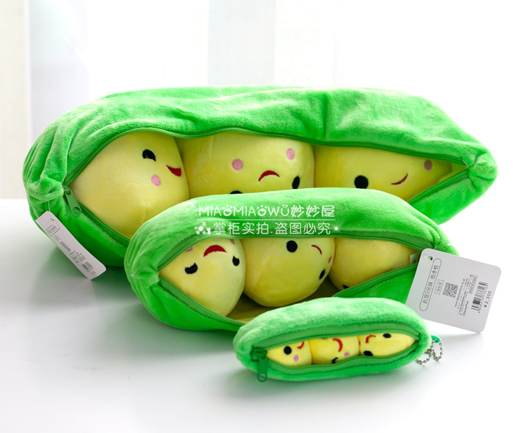 stuffed plush 25 cm plush toy cute 3 peas in a pod pea toy doll w1830(China (Mainland))