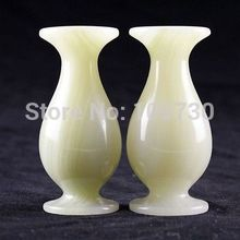 bir 001585 Chinese hand carved jade vase Decoration, appreciation of the space is large(China (Mainland))