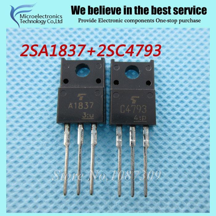 10pcs free shipping A1837 C4793 2SA1837 2SC4793 (5PCS* A1837+5PCS* C4793 ) TO-220F stereo pair tube new original(China (Mainland))