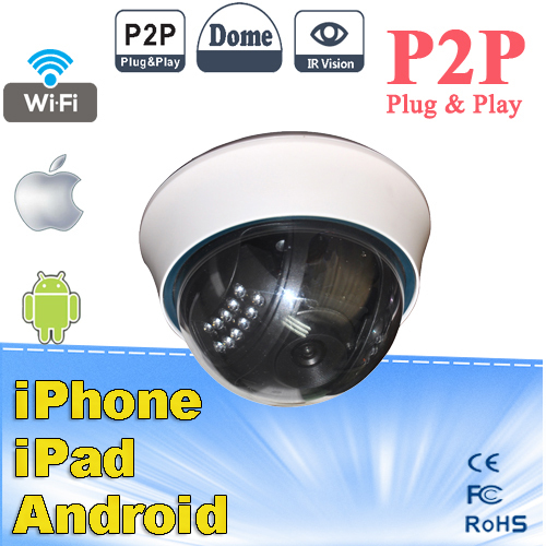 Nightvision WIFI Wireless Mini P2P Function Wireless Security Network IP Dome Cameras
