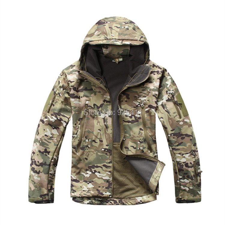 V 4 0 Men Outdoor Hunting Camping Waterproof Coats Jacket Army Coat Outerwear Hoodie Army Green