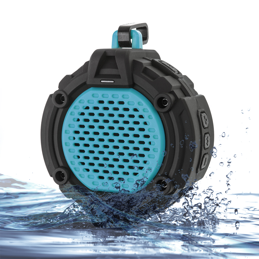 Portable NFC Waterproof Bluetooth 4.0 Speaker Rugged Wireless for Outdoor/Shower with Built-in Microphone &amp; Snap Hook<br><br>Aliexpress