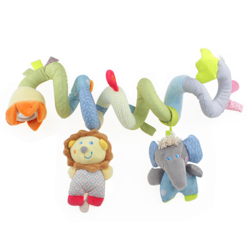 Activity Spiral Baby Toys Soft Toys For Newborns 0-12 Months Baby Girls Boys Mobile Rattles Hanging Travel Toys For boys 90(China (Mainland))