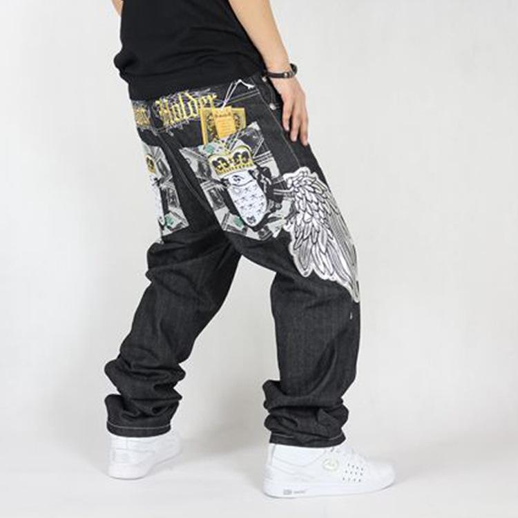 2016 news Men's Hip-Hop cotton loose Jeans trousers Casual Plus Size street dance